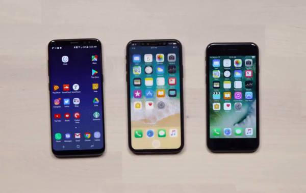 谁更美?iPhone 8屏占比对比三星Galaxy S8