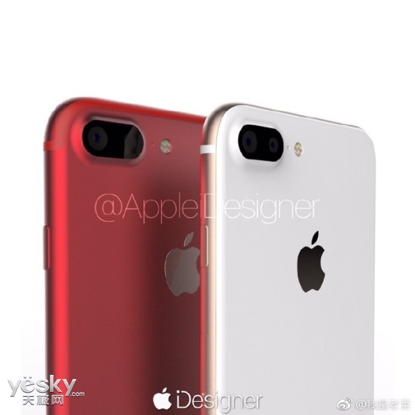 苹果i7s系列新渲染图曝光:和先代一模一样