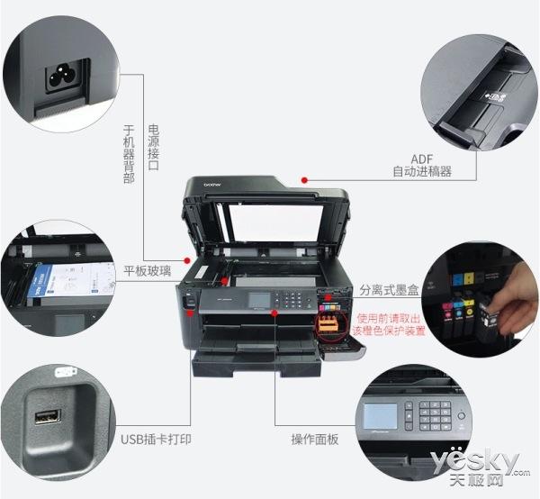 兄弟A3彩喷多功能打印机J2330DW售价1990