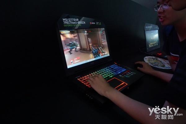 微星多款游戏神器亮相CJ 引得玩家竞相体验