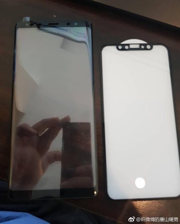 三星Note8屏幕对比iPhone8:谁的屏占比高?