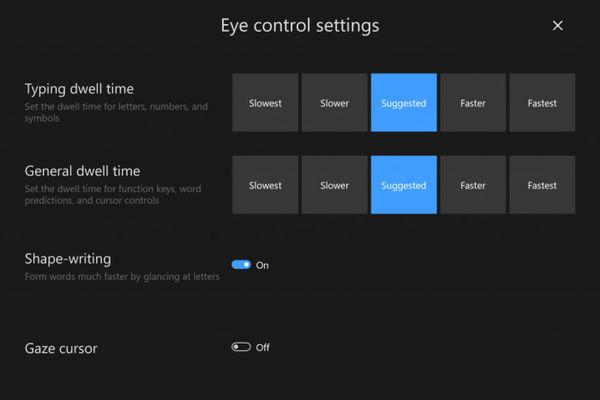 Windows 10更新 眼球控制来了!