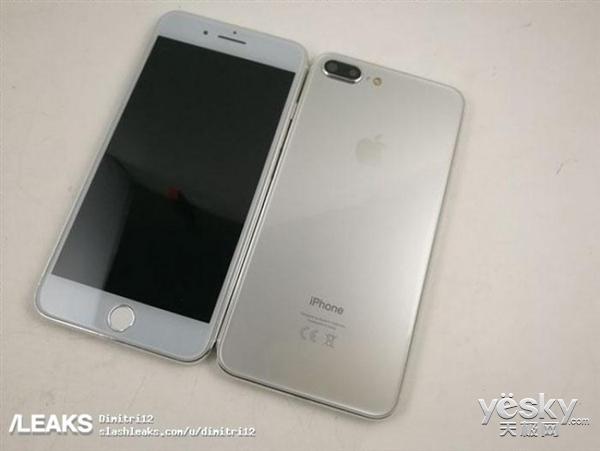 亮银版iPhone 7s Plus曝光:前面板变更灰色