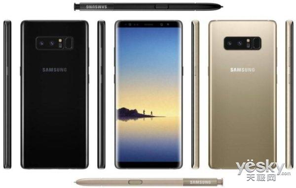 传三星Galaxy Note8并非全屏支持压感触控