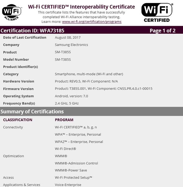 三星新款廉价平板Tab E 8.0获Wi-Fi认证