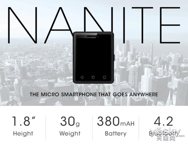 885元!世界最小安卓手机正式发布:1.54英寸