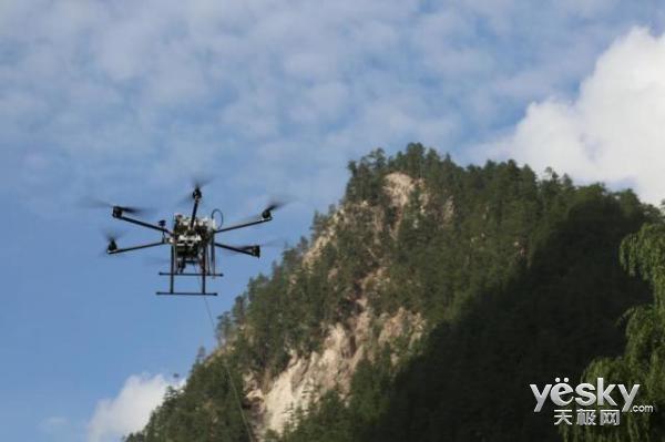 中国移动无人机高空基站震区升空