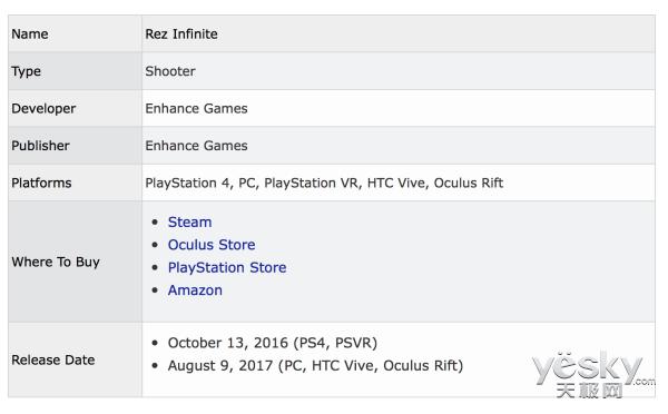 《Rez Infinite》现已加入Steam和Oculus