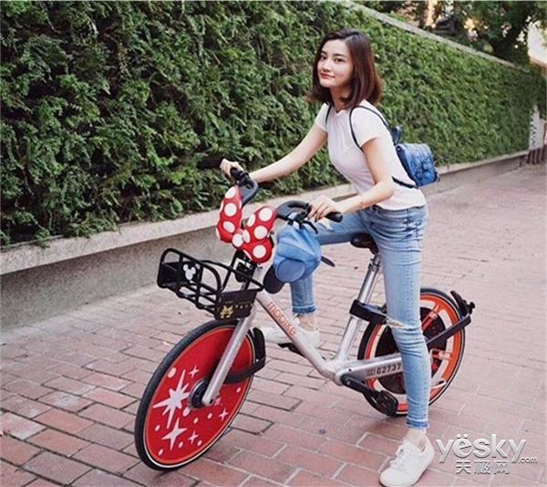 摩拜单车与迪士尼商店合作 推出定制款单车