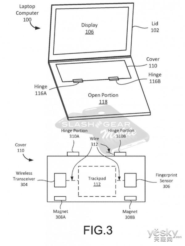 谷歌笔记本新专利:平板模式下键盘可覆盖