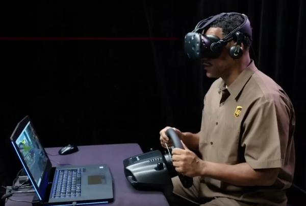 Vive VR头盔来训练运输司机