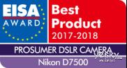 尼康数码单反相机D7500荣获EISA大奖