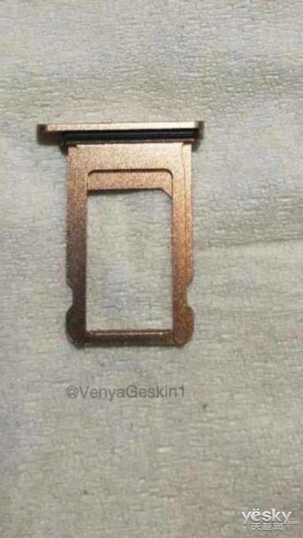 苹果iPhone8 SIM卡槽曝光:无缘双卡双待功能