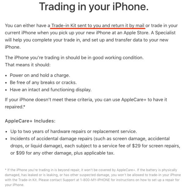 苹果用户可通过快递以旧换新iPhone8/X