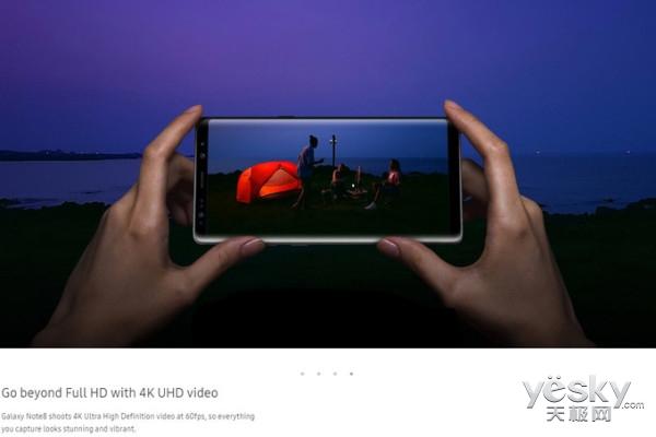 硬碰苹果?三星Note8将支持4K 60fps视频录制