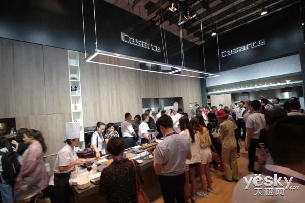 海尔电博会展示世界唯一物联大厨电