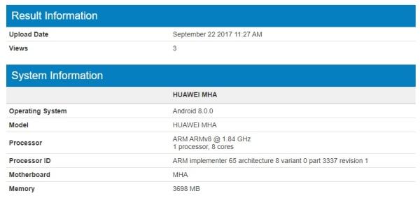 华为正在为Mate 9测试Android 8.0系统