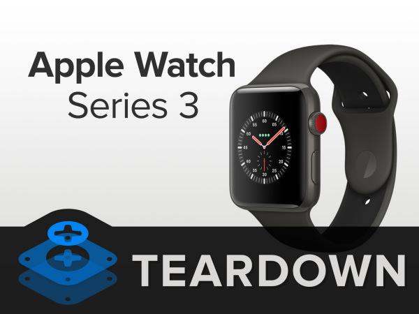 Apple Watch Series 3拆解:电池亮了!