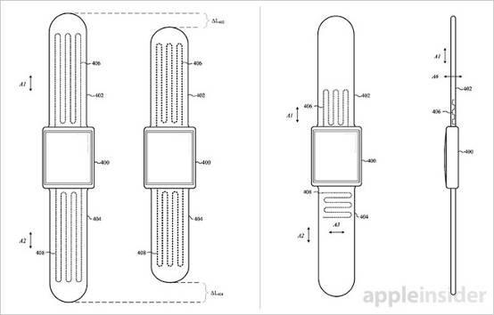 苹果获得新专利 Apple Watch自动调节表带