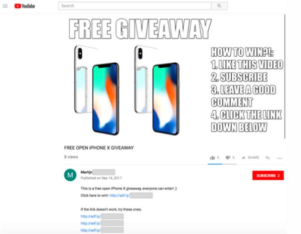 社交平台各种免费送iPhone能信么?当心诈骗