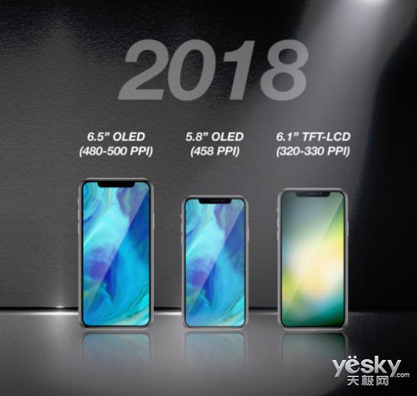 全面屏世代!明年苹果将主打三款iPhone X