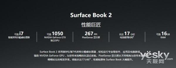 性能速度提升3倍!微软Surface Book 2 13.5英寸版开卖 12388元起