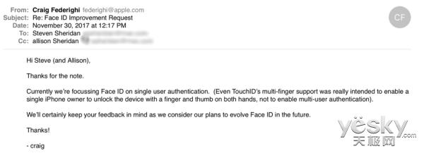 每日IT极热 苹果高管回应Face ID为何只能刷一张脸