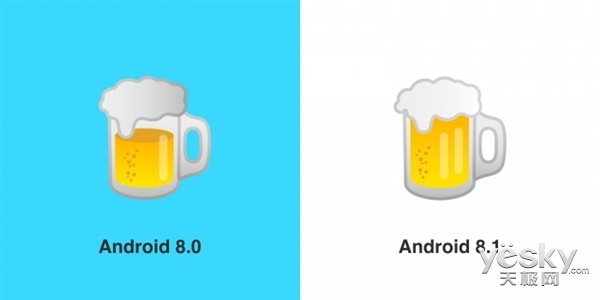 安卓8.1正式版发布:芝士放在肉饼上层,酒杯也满了!