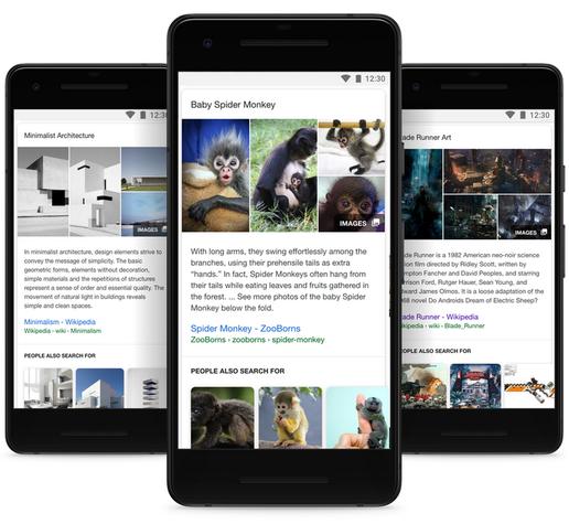 谷歌增强搜索应用功能:三大改进更懂你