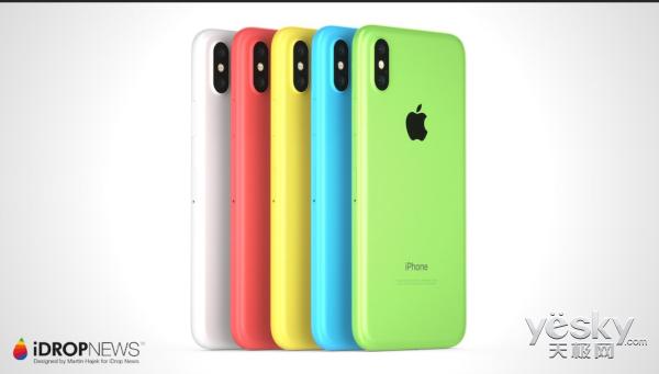 廉价版iPhone Xc概念图浮出水面:塑料材质/画风多彩