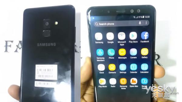 三星Galaxy A8+上手视频曝光:本月底或亮相 6GB RAM