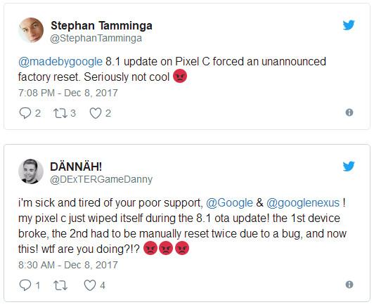 Pixel C升级Android Oreo 8.1悲剧了 数据自动清空