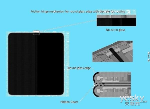 微软可折叠手机专利设计曝光:双屏无缝衔接/可弯曲玻璃