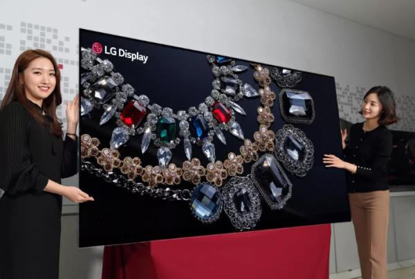 天价!LG 88英寸8K OLED电视将亮相CES 2018