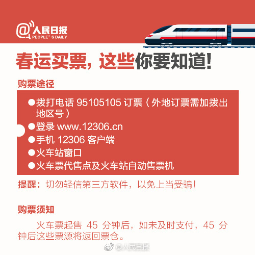 2018春运火车票今天起正式开售,这些你需要知道!附官方购票日历