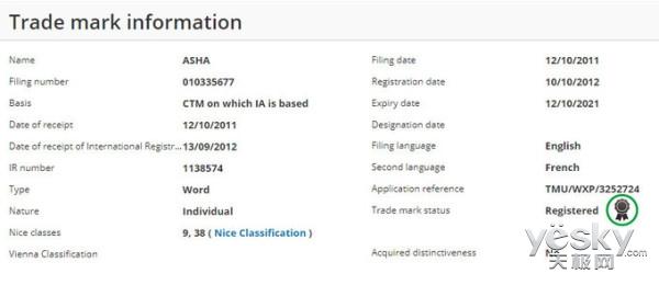 野心不小 新机不断:HMD Global又注册全新手机商标Asha