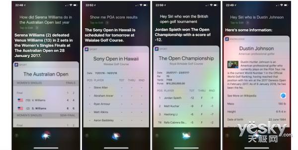 澳网开幕在即:苹果为Siri恶补网球/高尔夫相关知识