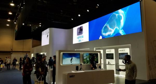 CES 2018 GoPro展台掠影  除了冷清还是冷清
