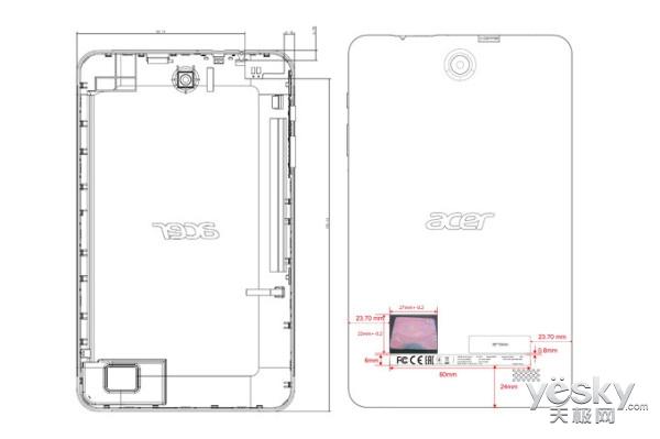 宏�Iconia One 8(2018)平板现身FCC:联发科MT6781A+1GB内存