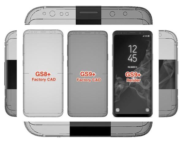 没什么大不同 三星Galaxy S9+工厂设计图对比S8+
