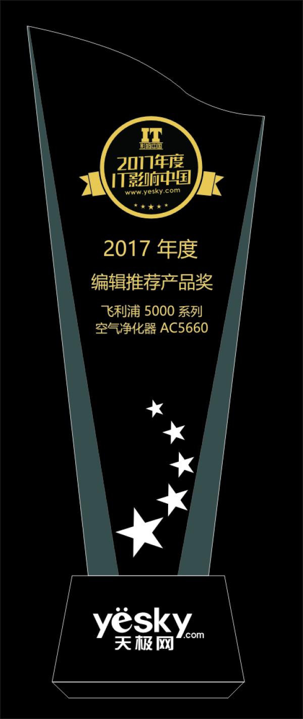 IT影响中国:飞利浦空气净化器AC5660荣获年度编辑推荐产品奖