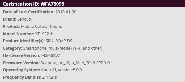 HTML5性能跑分数据证实Moto G6系列采用全面屏