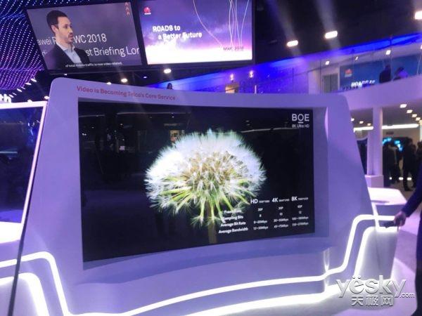 京东方MWC秀全球最大8K显示屏:今年为8K元年