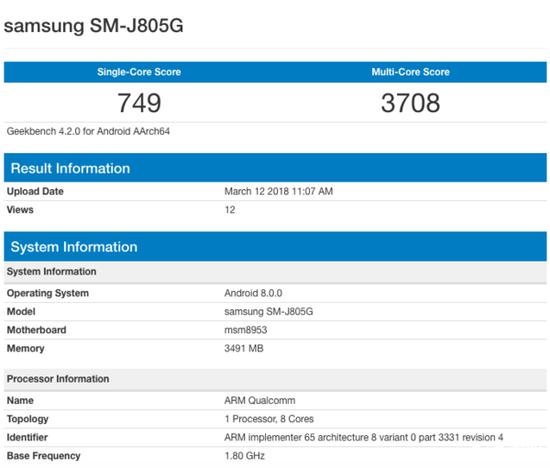 三星J8+的尺寸更大 骁龙625+4GB运存