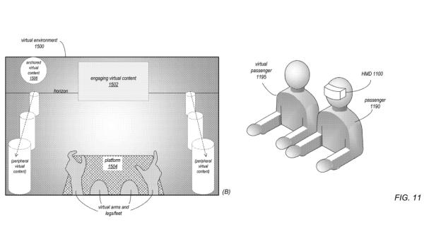 苹果新专利:透过VR系统可以预防晕车