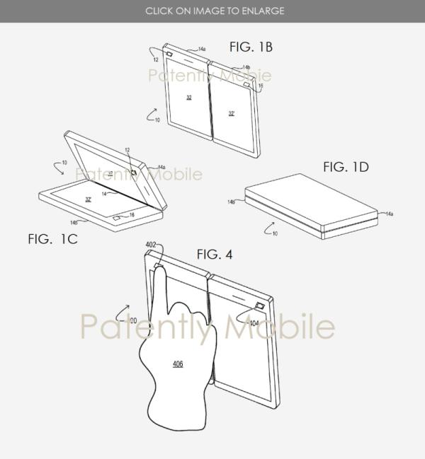 微软新折叠设备专利曝光 摄像头设计很独特