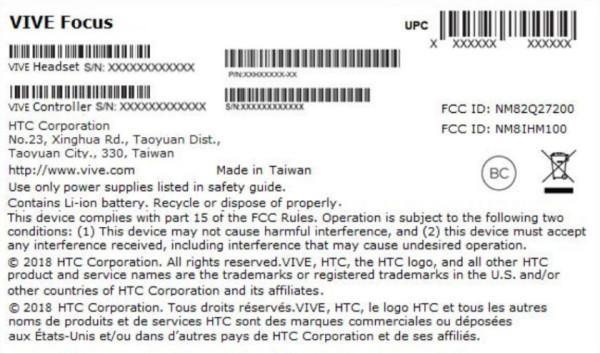 即将登陆美国 HTC VR一体机Vive Focus获FCC认证