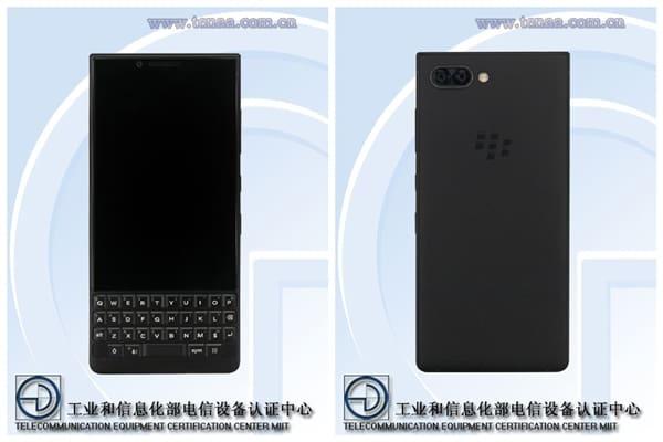BlackBerry Athena现身工信部网站 首款黑莓双摄