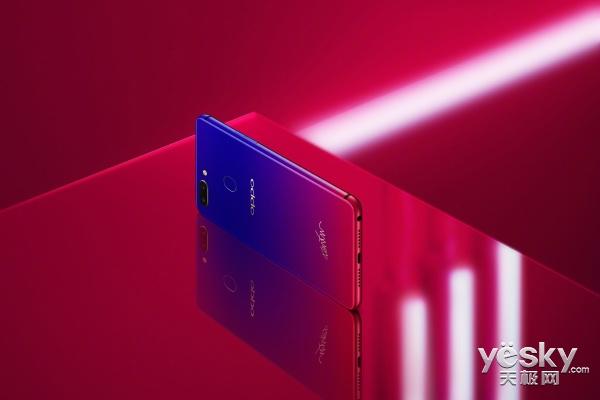 浑然一体的红蓝渐变 OPPO R15星云特别版灵动而来