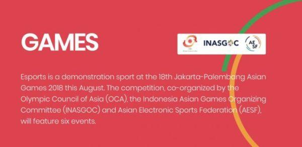 2018印尼亚运指定电竞游戏名单 星际、实况等悉数入选